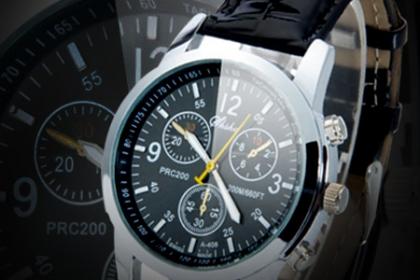 Â¡Dando la Hora en Navidad! Paga RD$550 en vez de RD$1,400 por Reloj de Hombre Quartz de Leather y Stainless-Steel Alloy en Brand Accesories.