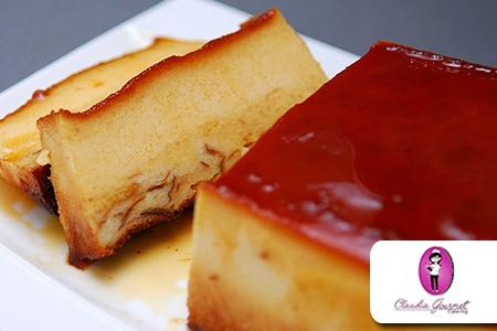 Â¡Deliciosos postres para compartir! Paga RD$399 en vez de RD$700  por  8  a 10 porciones de Flan de Leche o Pudin de Pan en Claudia Gourmet.