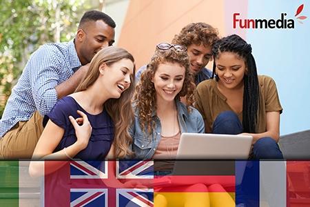 ¡Aprende idiomas de forma fácil! Paga RD$990 en vez de RD$19,000 por 12 meses de Curso Online de idiomas a elección: Inglés, Alemán, Italiano o Francés + 3 Meses de Curso Business English en Funmedia.