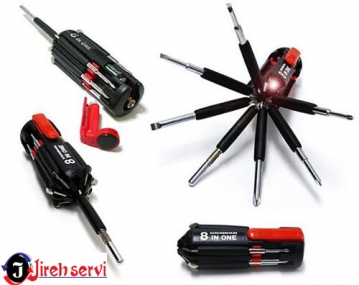 Â¡No te quedes sin tu Multi-Destornillador! Paga RD$230 en vez de RD$460 por Destornillador 8 en 1 con luz Led en Jireh Servi.