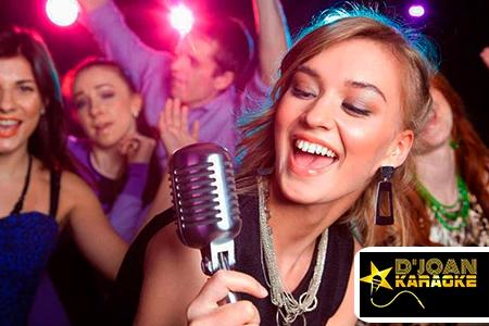 ¡Haz la más divertida de las fiestas! Paga RD$3,250 en vez de RD$6,500 por 3 horas de Karaoke que incluye 2 Bocinas de 15 + Proyector + 2 Micrófonos + 2 Luces LED con sus bases + DJ + 1 Pantalla en D�Joan Karaoke.