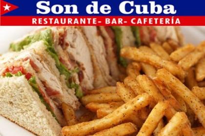 Â¡Ummm Dejate tentar por este rico Sandwich de Pechuga de Pollo! Paga RD$105 en vez de RD$210 por Sandwich de Pechuga de Pollo + Papas Fritas en Son de Cuba Restaurante.