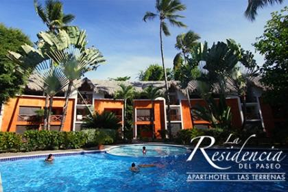 ¡Vacaciones a Las Terrenas! Paga RD$4,550 en vez de RD$9,800 por Estadía de 3 días y 2 noches para 2 ó 4 personas + Cóctel de bienvenida en el Hotel Residencia Del Paseo Las Terrenas.