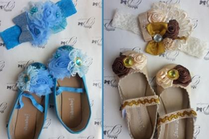 ¡Si es una princesa debe utilizar zapatos de princesas! Paga RD$499 en vez de RD$1,000 por  Zapatos para niñas personalizados + Venda Combinada  en Moda Personalizada.