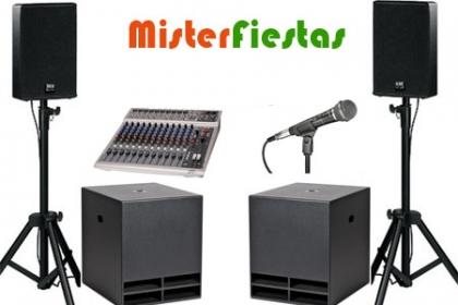 ¡Arma la Fiesta de tu Niño! Paga RD$3,495  en vez de RD$9,000 por 3 hrs de Sonido Profesional + DJ +  Máquina de Palomitas (50 Unidades) +  Amplificador + Micrófono +  Personal de Atención + Transporte  en Mister Fiestas.