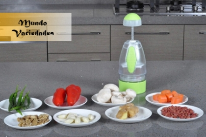 Â¡Frutas y Vegetales bien cortados! Paga RD$390 en vez de RD$780 por Cortador de alimentos en Mundo Variedades.