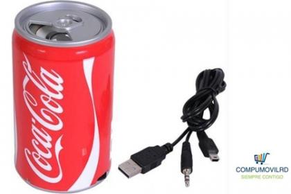 ¡Música enlatada! Paga hoy RD$249 en vez de RD$995 por una Lata de bocina recargable con USB/Memoria/ Radio FM con el cable auxiliar y cable USB para todo tipo de celulares o solas en CompumovilRD.