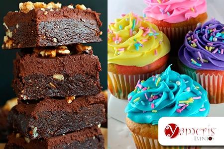 Â¡Dulces instantes para compartir! Paga RD$450 en vez de RD$900 por 12 Cupcakes decorados + 12 Brownies empacados en Yamcris Eventos.
