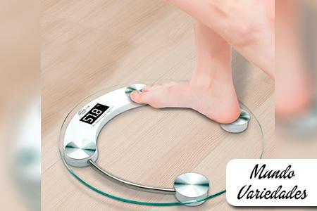 Â¡Controla tu peso en casa! Paga RD$595 en vez de RD$1,200 por Balanza Digital Transparente Redonda en Mundo Variedades.
