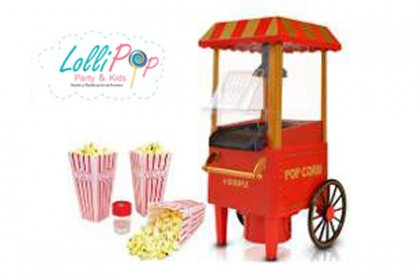 Â¡Complementa tu Fiesta Con estas  ricas palomitas! Paga RD$890  en vez de RD$2,000 por Carrito de Pop Corn en LolliPop Party & Kids.