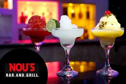 ¡Pierde el estres con una margarita frozen entre amigos! Paga RD$75 en vez de RD$200 por una Margarita frozen a elegir entre: Limón, chinola o Tamarindo en Nou�s Bar and Grill.