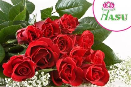¡Sorpréndela Con estas Hermosas Flores en San Valentín! Aprovecha y Paga RD$495 en vez de RD$1,000 por un Ramo de 12 rosas criollas + Capuchón + Lazo + Tarjeta de dedicación en Flores Hasu.