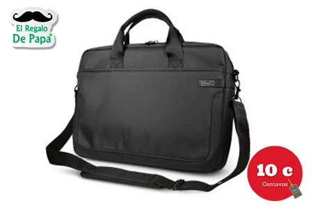 ¡Protege la laptop de papá! Paga RD$799 en vez de RD$1,600 por Maletín para Laptop + Descuento en Perfumes en 10 Centavos.