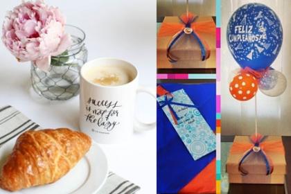 ¡Nutritivo y Hermoso Desayuno para Mamá! Paga  RD$850 en vez de RD$1,600 por 1 Croissant artesanal de Queso crema + 1 Pozuelo con Chocolate instantáneo + 1Cup cake de vainilla + 1 Guineo + Caja de cartón + Servilletas +Tarjetica dedicatoria + 1 Arreglo de globos tipo látex con helio + Lazos, cintas y papel tisú como decoración en Breliz Basquet, Desayunos personalizados y Más.