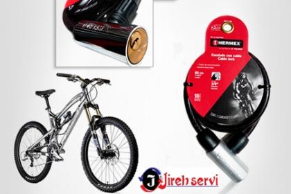 ¡Protege tu bicicleta o moto! Paga $250 en vez de $500 por candado de acero más dos llaves para tu moto o bicicleta en Jireh Servi.