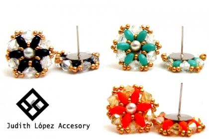 ¡Siéntete como una Reina! Aprovecha y Paga RD$99 en vez de RD$450 por Hermosos Aretes en SuperDuo y Cristal, varios Colores a elegir en Judith López Accesory.