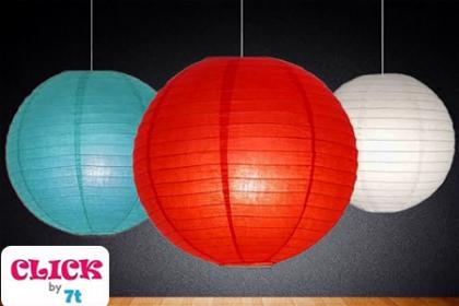 ¡Decora de una forma diferente! Paga RD$165 en vez de RD$400 Por Lámpara de papel japonesa en Click by 7T.