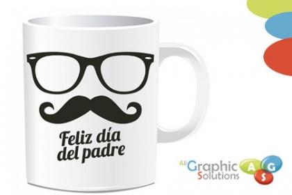 ¡Taza Para Papá! Paga RD$170 en lugar de RD$280 por Taza Personalizada en All Graphics Solutions.