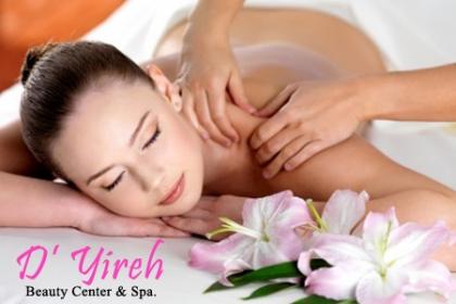 ¡Relájate con nuestros Rituales! Aprovecha y Paga RD$395 en vez de RD$1,500 por Masaje de Relajación (40min)  que incluye: Calentamiento de Espalda + Masaje Podal + Aromaterapia en D�Yireh Beauty Center & Spa.
