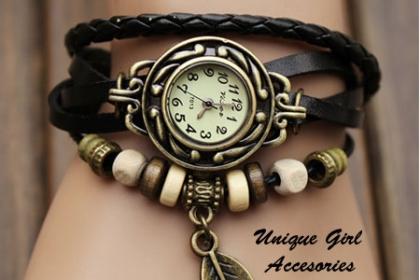 Â¡Hermoso Reloj para Ella! Paga RD$375 en vez de RD$850 por Reloj estilo Vintage, varios colores disponibles en Unique Girl Accesories.