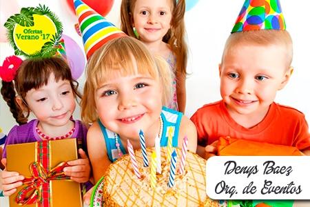 ¡Lo que necesitas para tu fiesta! Paga RD$3,950 en vez de RD$8,000 por 20 Invitaciones + 20 Funditas + 20 Gorritos + 50 Vasos + 25 Platos + 25 Cucharas + 1 Adorno del bizcocho + 1 Letrero de cumpleaños + 2 Fundas de dulces + 144 Globos + 1 Mantel + 1 Piñata + 1 Libra de bizcocho en Denys Báez Organizadora de Eventos.