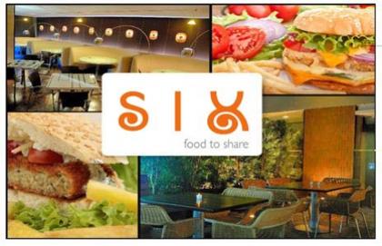 Paga RD$180 en vez de RD$485 por la Hamburguesa que mas te guste del menú + Papas + Refresco en el Restaurante SIX.
