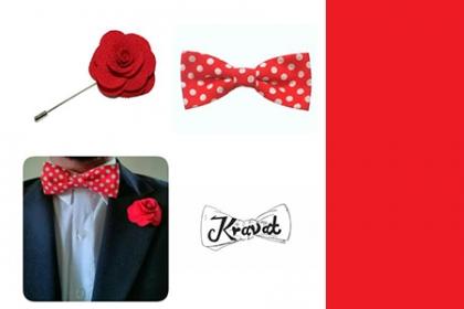 ¡Moda y estilo para hombres! Paga RD$500 en vez de RD$1,000 por Combinación de corbatín y pin en Kravat RD.