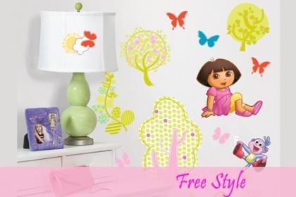 ¡Decora la  habitación de tus hijos con Stickers 3D! Aprovecha y Paga  RD$176 en vez de RD$450 por Stickers 3D para niños, diseños a elegir en Free Style.