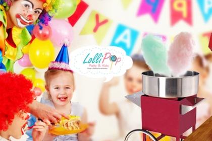 ¡Un complemento que resuelve tu Fiesta! Aprovecha y Paga RD$790  en vez de RD$2,000 por Alquiler de Máquina de Algodón para Fiestas en LolliPop Party & Kids.