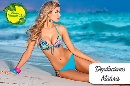 ¡Depilación completa para el verano! Paga RD$590 en vez de RD$2,800 por Depilación de Piernas hasta las rodillas + Cejas + Labio Superior + �rea de Bikini + Zona Perianal + Brasileño + Brazos + Axilas + Exfoliación de espalda en Depilaciones Midoris.