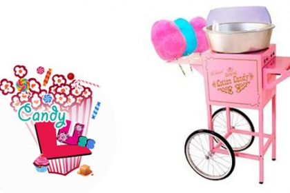 ¡Perfecto para Complementar tus fiestas! Paga RD$890 en vez de RD$2,500 por Alquiler de Máquina de Algodón (100 Unidades) + Servicio a Domicilio en Candy Lúss.
