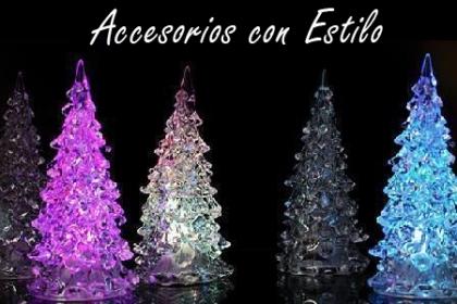 ¡Llegó la magia de la Navidad! Paga RD$300 en vez de RD$1,150 por Arbolito de Navidad Iluminado con Led, Material Acrílico en Accesorios con Estilo.