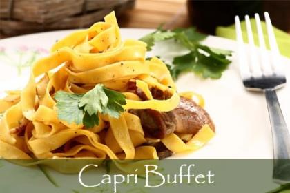 Â¡Deliciosa Pasta Italiana! Paga RD$180 en vez de RD$360 por Plato de Pasta Porcini con Salchicha italiana en Restaurante Capri Buffet.