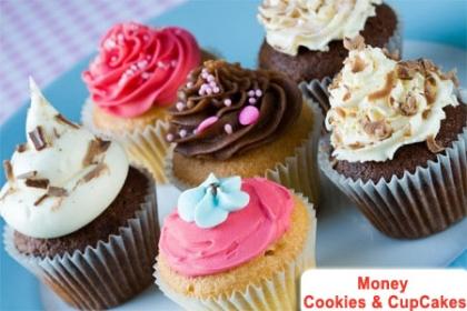 ¡Endulza tu día! Paga RD$550 en vez de RD$1,200 por 20 Cupcakes Rellenos de Dulce de Leche ó Chocolate con tope de suspiro: blanco, verde, rosado o azul en Money Cookies & CupCakes.