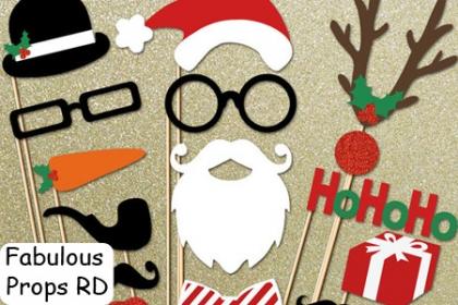 ¡Anima tu Fiesta en Navidad! Paga RD$595 en vez de RD$1,530 por 24 Props con el Motivo que desees: 6 Gorritos Navideños + 6 Bigotes + 6 Boquitas + 6 letreros personalizados tamaño 8x5, (mensajes a elegir) + Bolsa en Fabulous Props RD.
