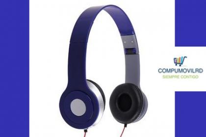 ¡Escucha tu música a todo volumen! Paga RD$349 en vez de RD$895 por unos Auriculares HD en Compumovil RD.