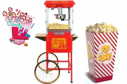 ¡Pop Corn para el Cumpleaños! Paga RD$1,100 en vez de RD$3,000 por Alquiler de Máquina de Pop Corn (100 unidades) + Personal Uniformado + Servicio a domicilio en Candy Lúss.