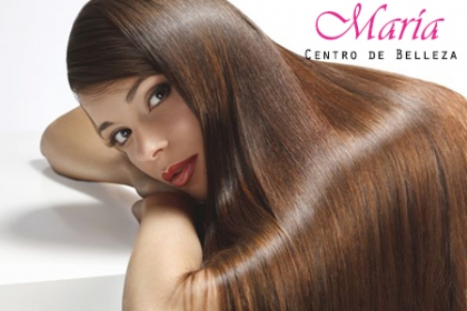 ¡Dale vida a tu pelo! Paga 99 en vez de 250 por Lavado + Secado + Leave-in en Salón Maria.