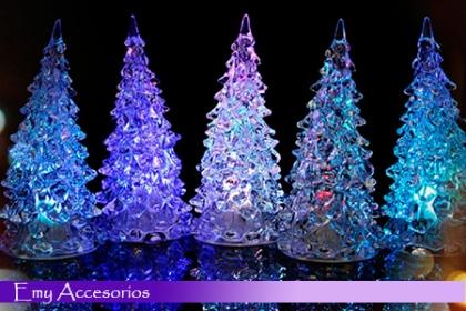 ¡Ponle color a tu navidad! Paga RD$299 en vez de RD$600 por Mini �rbol Navideño Led en Emy Accesorios.