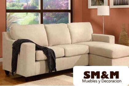 ¡Luce una Sala Espectacular! Paga RD$14,500 en vez de RD$30,000 por un Sofá de 3 Plazas de Micro Fibra en SM&M Muebles y Decoración.