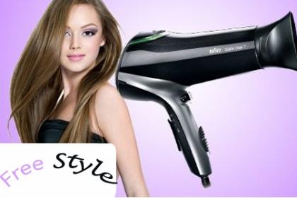 ¡Deja tu pelo como si acabaras de salir del salón de belleza! Paga RD$799 en vez de RD$2,300 por Blower Marca Braun (3000 watts) en Free Style.