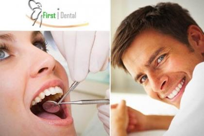 ¡Cuidado Dental! Paga RD$550 en vez de RD$2,500 por Diagnóstico + Limpieza Dental Profunda + 2 Caries no importa el tamaño en First Dental con la Dra. Adriana de la Cruz.