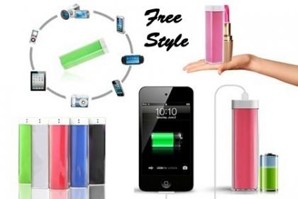 ¡No te quedes sin carga! Paga RD$350 en vez de RD$900 por un Cargador USB PowerBank portátil universal para todo tipo de celulares, MP3, MP4, PSP o cualquier otro producto digitale móviles en Free Style.