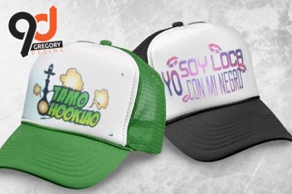 ¡Gorras Personalizadas! Paga RD$195 en vez de RD$400 por Gorra con diseño personalizado en Gregory Desing.