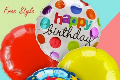 ¡Decora tu fiesta! Paga RD$40 en vez de RD$150 por Globo Metálico #18 del motivo que desees en Free Style.