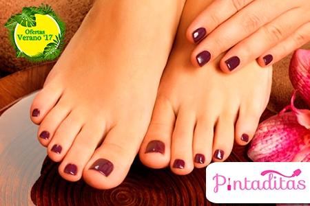 ¡Dale cariño a tus manos y pies! Paga RD$650 en vez de RD$1,250 por Manicure + Pedicure + Exfoliación + Hidratación + Parafina en los pies + Pintura Gel Essie Couture en Pintaditas RD.