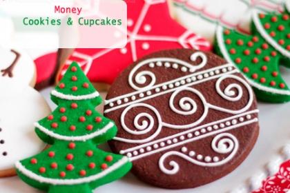 ¡Ummm Disfruta de estas Riquísimas Galletas de Navidad! Aprovecha y Paga RD$350 en vez de RD$700  por 12 Galletas decoradas con Fondant y Glass  por motivo de la navidad en Moneycookies&cupcake.