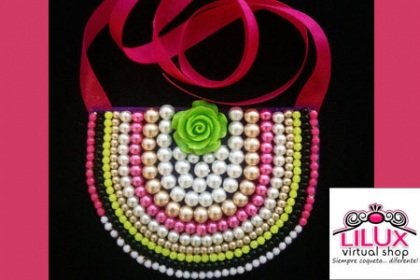 ¡Regálale a Mamá un hermoso Collar! Paga RD$450 en vez de RD$1,400 por Collar tipo babero en Lilux Virtual Shop.
