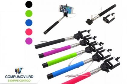 ¡Haz mejores fotos y videos! Paga RD$ 375 en vez de RD$1,500 por un Monopod con cable - Para iPhone 4/4s, 5/5s, 6/6plus, Samsung S4/S5, Sony Z1, Z3 en múltiples colores en  COMPUMOVILRD.