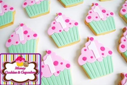 ¡Para la fiesta de los más chiquitos! Paga RD$599 en vez de RD$1,200 por 12 Galletas decoradas en Glass y Fondant empacadas individualmente en Money Cookies and Cupcakes.